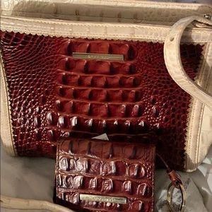 Brahmin crossbody and wallet